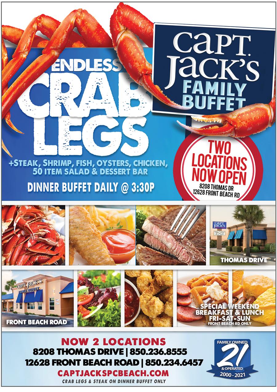 Capt Jakcs Family Buffet ad